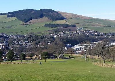 Stunning Views over Galashiels from the 1st Green