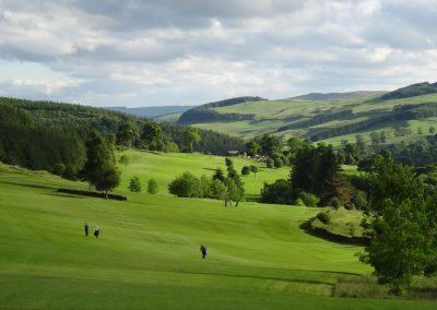 Views from 7th tee towards the Hills