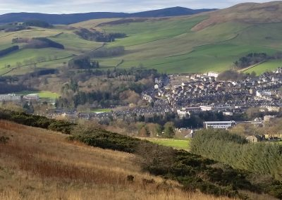View of Galashiels from Ladhope hill