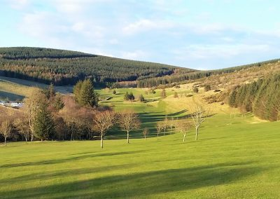 Looking back along the bottom of Ladhope Golf Course