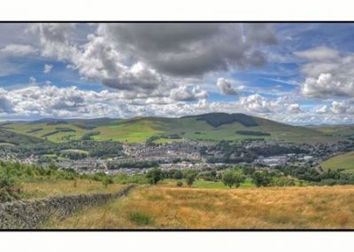Stunning Views over Galashiels and the Countryside